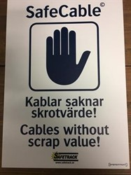 SafeCable Sign A3 Plastic
