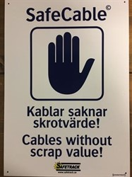 SafeCable Sign A3 ALU