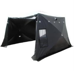 2.4x2.4x2.0 Black ForensicTent w.translucent roof