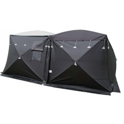 4x4x2,4m Forensic tent Black/translucent roof