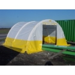 Inflatable Tent 8x6x3 White/yellow cover