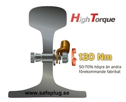 SAFEPLUG® HT M12 Single High Torque 120Nm.A4.Drill ø19
