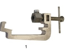 Track clamp (temp rail bond) 110-125/135-150mm *Extended