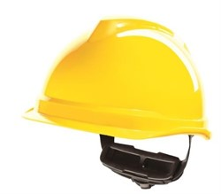 Safety helmet Yellow without safety glasses. Tested to 440 volts