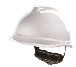 Safety helmet White without safety glasses. Tested to 440 volts