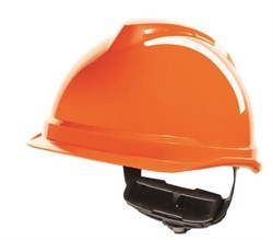 Safety helmet Orange without safety glasses. Tested to 440 volts