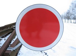 Stop sign rail, Denmark.