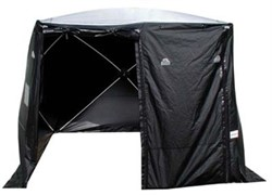 3x3x2,2m Forensic Tent Black/translucent roof