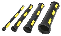"Protectus EN 60(2,4"") Yellow, 1m(39"") cable pipe (256pcs/pallet)"