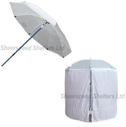 UMB8C Umbrella 2,4m Transluc. incl.wrap around skirt