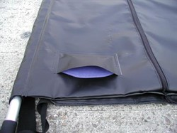 Underwater Body bag  / Curved zip / for pole set 2.4 x 1.0m   /With mesh drain