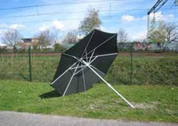Welding Umbrella Medium Ø220cm Foldable Green Canvas ø28/38