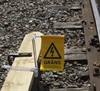 Electric Barrier Sign for 3rd rail, kit